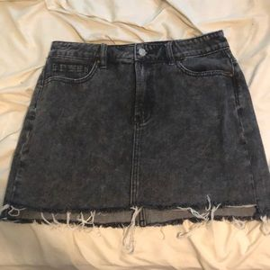 Black jean skirt from PacSun